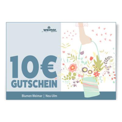 Gutschein im Werte von 10 Euro von Blumen Weimar in Neu-Ulm